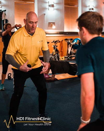Image of Trevor Seymour owner and Personal Training a client here at HD1 Fitness Clinic